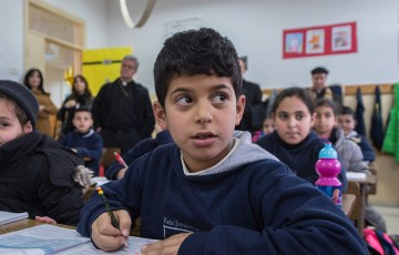 Canadian Bishop comments on his visit to schools in the Holy Land