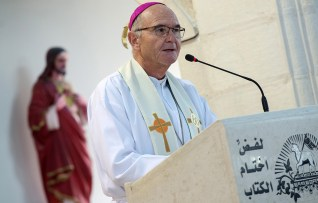 "Archbishop tells Palestinian Christians the ""promotion of truth, love, justice and peace"" is integral to the Church's mission"