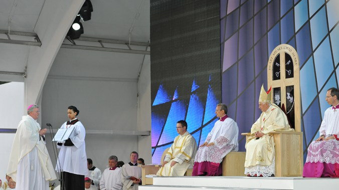 Archbishop Longley's Cofton Park Welcome to The Holy Father
