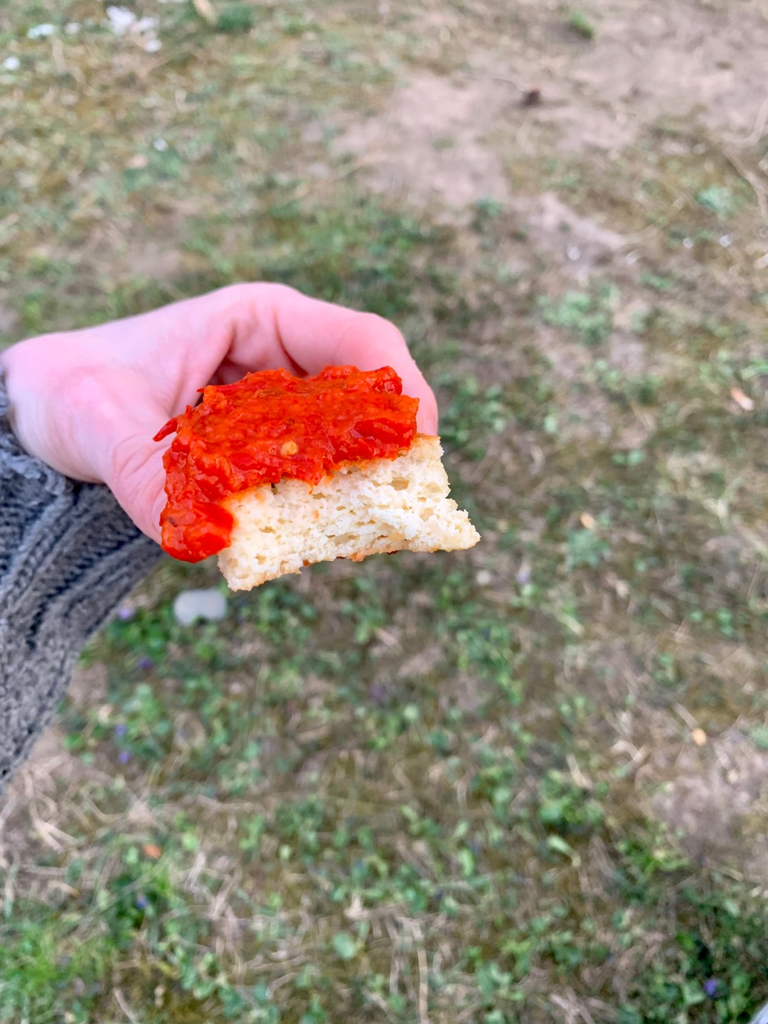 Picture of keto focaccia with ajar