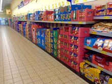 Aldi shopping aisles