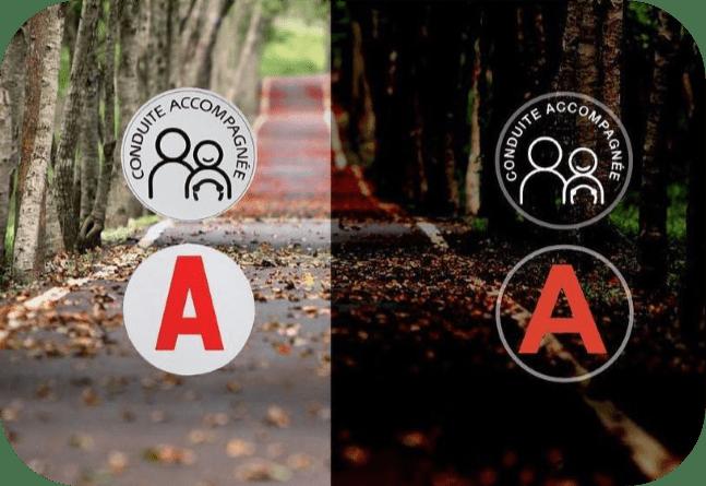 Disque A ou AAC magnétique réfléchissant