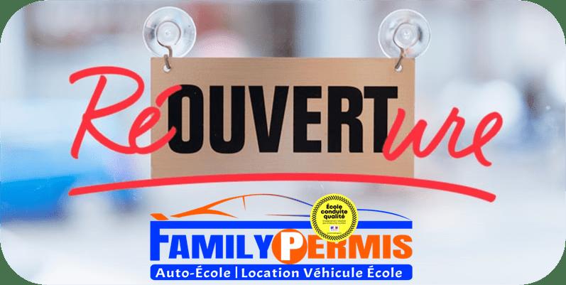 COVID-19 Coronavirus : Réouverture des auto-écoles FAMILY PERMIS LA CIOTAT LA BEDOULE AIX EN PROVENCE le 11 mai 2020