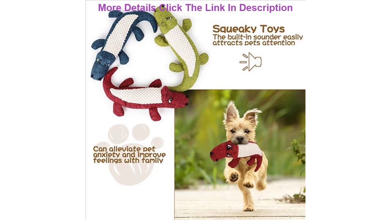 ThinBest Squeaky Dog Training Toys Dog Teething Chewing and Plush Animal Dog Toy Set for Small Med - ThinBest Squeaky Dog Training Toys Dog Teething Chewing and Plush Animal Dog Toy Set for Small Med