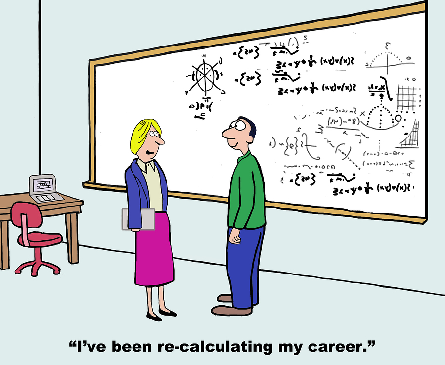 people calculating a new mediation career change