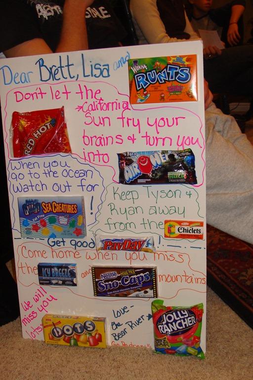 Candy Bar Card Phrases Family Reunion Helper
