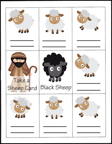 Black sheep printable