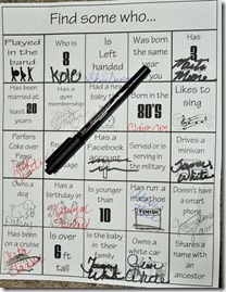 reunion bingo