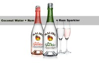Coconut Water and Caribbean Rum = Malibu Rum Sparklers