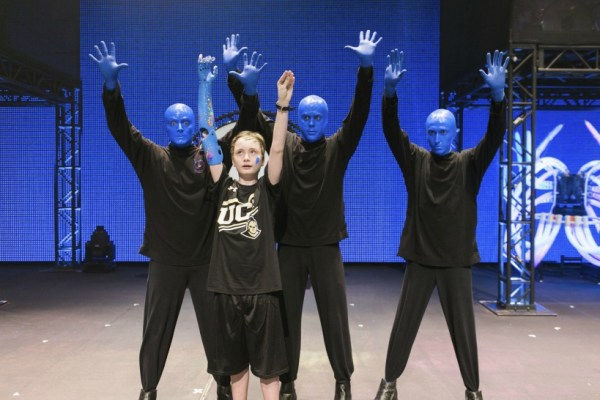 Wyatt with Blue Man Group Image 2015