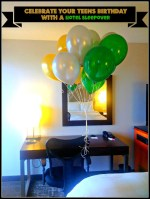 Celebrate your teen's birthday with a hotel sleepover