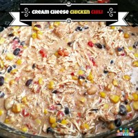 Crockpot Cream Cheese Chicken Chili