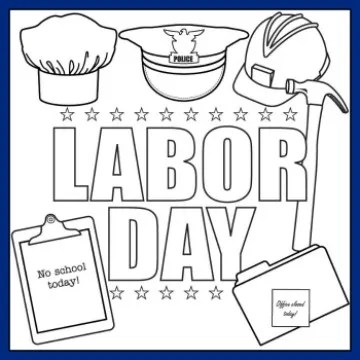 Happy Labor Day! coloring page | Free Printable Coloring Pages | 360x360