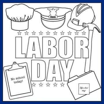photograph about Labor Day Printable identified as 7 Labor Working day Printables - Household Overview Consultant