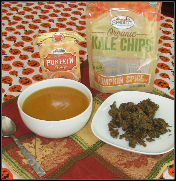 Sprouts Farmers Market Pumpkin Soup and Kale Chips