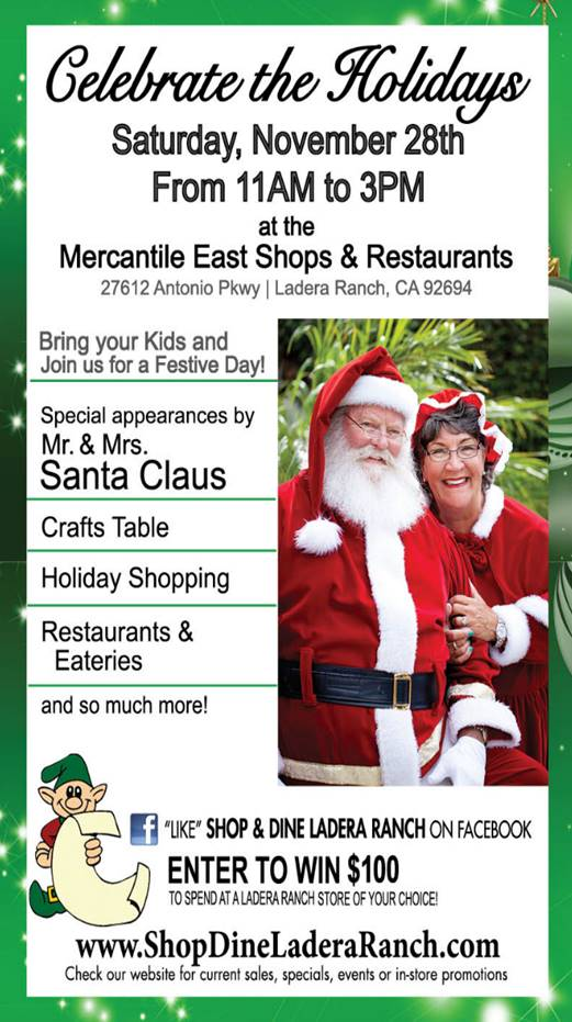 Santa Is Coming To Ladera Ranch Family Review Guide