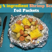 Easy 4 ingredient Shrimp Scampi Foil Packets