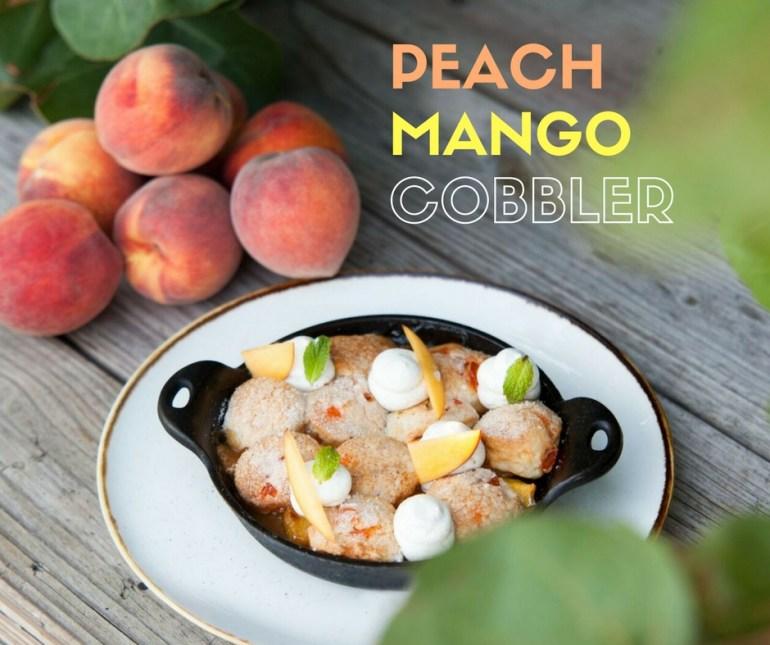 Peach Mango Cobbler