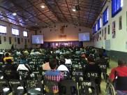 Am frühen Morgen ist die Halle noch nicht so sehr gefüllt. :-) Sehr afrikanisch.