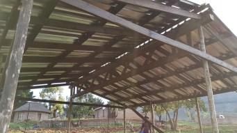 Die fertige Dachkonstruktion