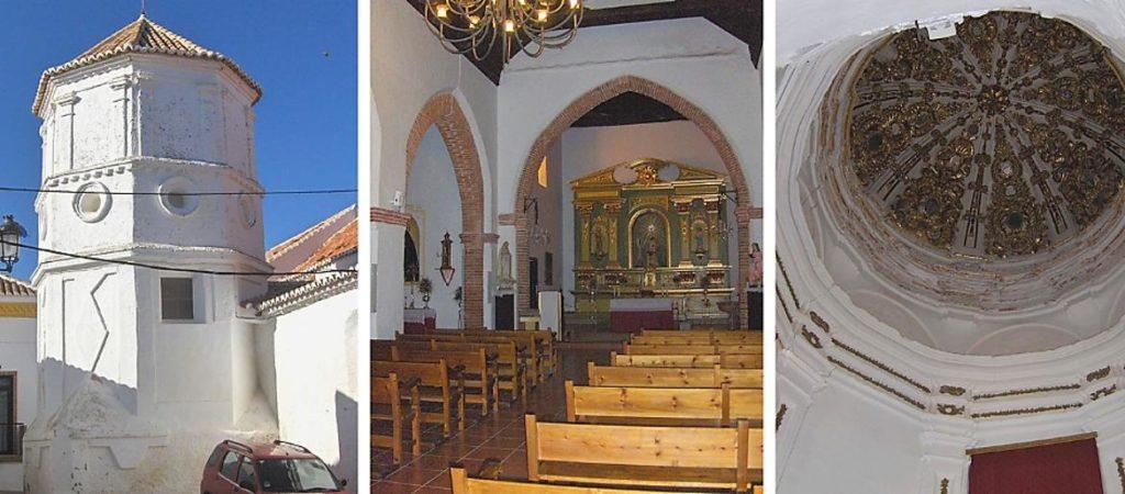 Tres vistas de la Iglesia de la Encarnación en Comares, Málaga