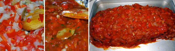 Meat Loaf With Tomato Relish Detail