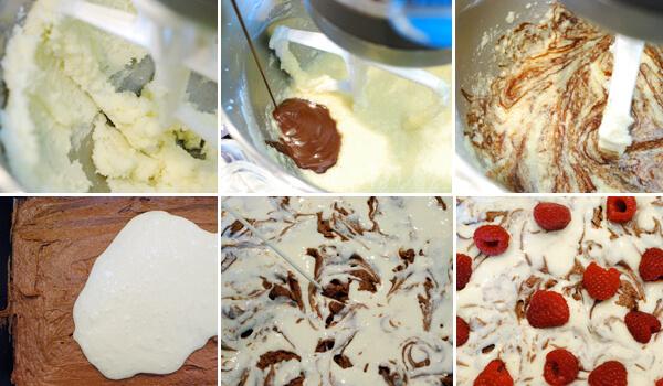 Raspberry Cheesecake Brownies Detail