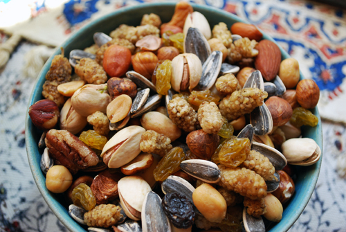 Ajeel (Persian Trail Mix) is served on Chahr-Shambeh Souri (FamilySpice.com)