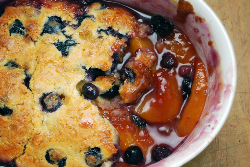 Peach and Blueberry Cobbler by FamilySpice.com