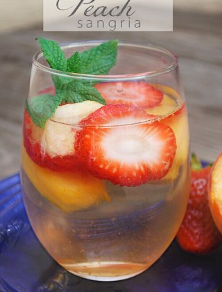 Strawberry & Peach Sangria