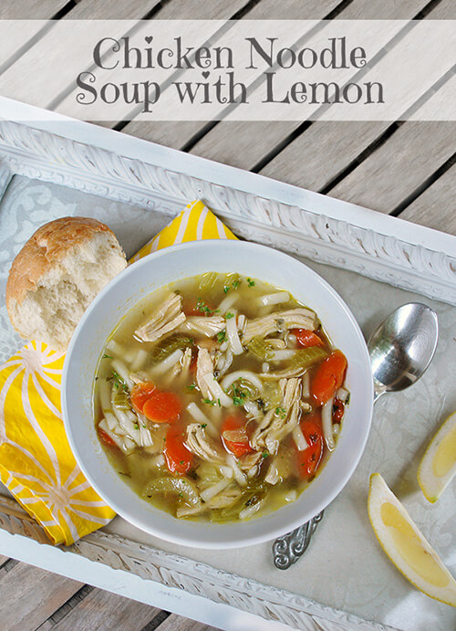 Lemon Recipes: Homemade Chicken Noodle Soup with Lemon by FamilySpice.com