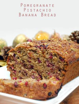 Pomegranate Banana Bread