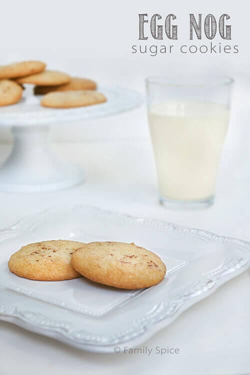 Egg Nog Sugar Cookies by FamilySpice.com