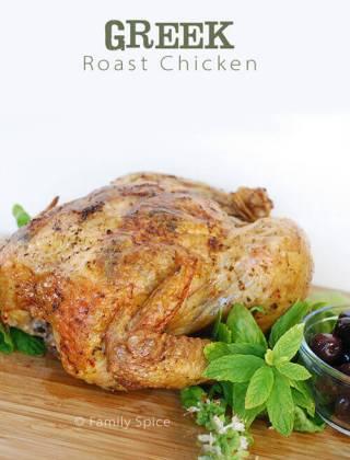 Olives, Basil & Chicken… Oh My: Greek Roast Chicken