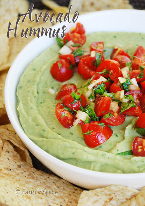 Avocado Hummus by Familyspice.com