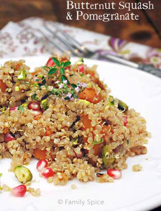 Enjoying Fall Flavors: Quinoa Pilaf with Butternut Squash & Pomegranate