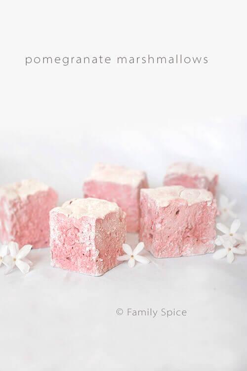 Pomegranate Marshmallows by FamilySpice.com