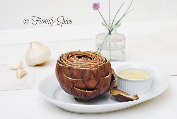 Artichoke with Garlic Butter