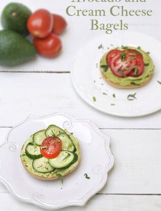 Avocado Field Trip: Avocado Cream Cheese Bagels