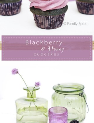 Baking with Honey: Blackberry and Honey Cupcakes.