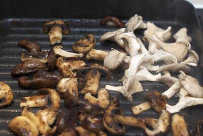 Prep for Easy Flank Steak with Garlic & Wild Mushrooms