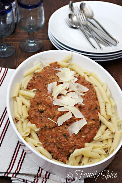 Easy Family Friendly Spaghetti & Meat Sauce