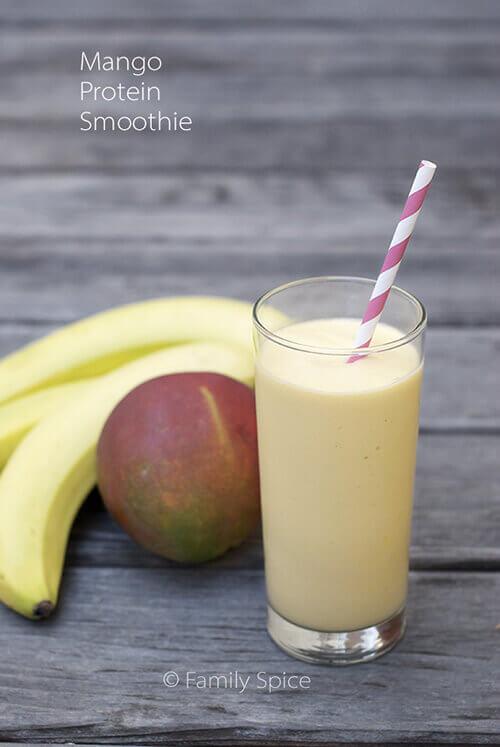 Mango Protein Smoothie by FamilySpice.com