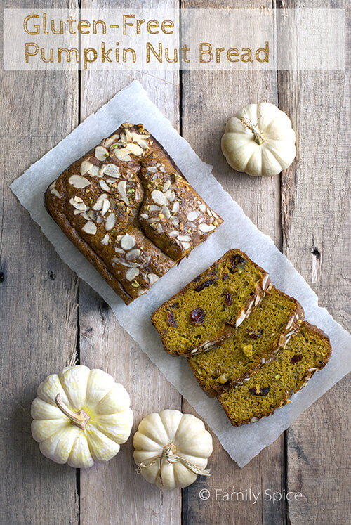 Unprocessed and Gluten Free Pumpkin Bread by FamilySpice.com