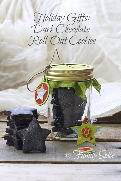 Homemade Holiday Gifts in a Jar: Dark Chocolate Roll-Out Cookies