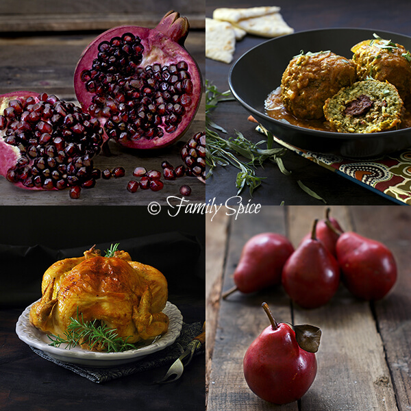 Food Photography Tips on a Budget: Food Collage in Black