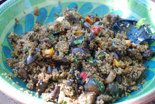 Food Photography Tips on a Budget: Balsamic Quinoa Before