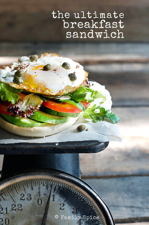 How to Build the Ultimate Breakfast Sandwich by FamilySpice.com