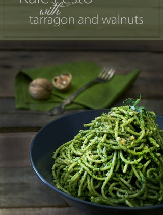 Think Green! Kale Pesto with Tarragon and Walnuts