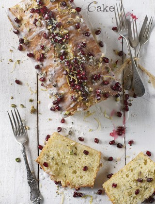 Holiday Gift Idea and an Olive Oil Lemon Cake with Basil and Pomegranate